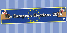 European Elections 2014 Display Banner
