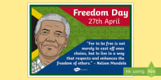 South Africa: Freedom Day 27th April Display Poster