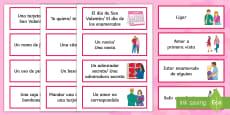 Valentine's Day Word Cards Spanish / Español