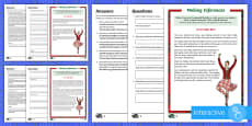 Burns Night Bash Inference Go Respond Activity Sheet