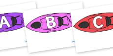 A-Z Alphabet on Kayaks