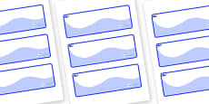 Whale Themed Editable Drawer-Peg-Name Labels (Colourful)