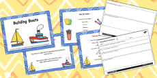 Suitability of Everyday Materials - Building Boats Differentiated Lesson Teaching Pack (Flipchart)