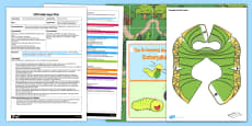 EYFS Bee-Bot Activity Adult Input Plan and Resource Pack to Support Teaching on the Crunching Munching Caterpillar