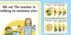 Speaking and Listening Social Situation Posters