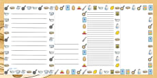 Pancake Recipe Page Borders