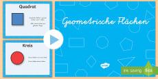 Geometrische Flächen Eigenschaften PowerPoint Spiel