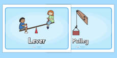 Simple Machines Display Posters
