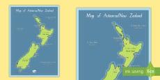 Aotearoa Map Display Posters  Te Reo Māori/ English