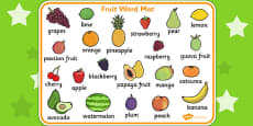 Fruit Word Mats