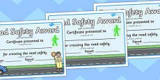 Road Safety Award Certificates Arabic Translation