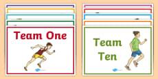 Editable Team Name A4 Display Poster