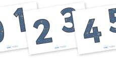 0-9 Display Numbers (Space)
