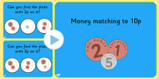 Money Matching PowerPoint Activity Up to 10p