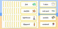 Seaside Word Cards