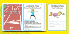 Summer Olympic Yoga Cards