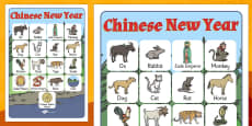 Chinese New Year Story Vocabulary Poster