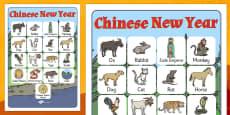 Chinese New Year Story Vocabulary Poster