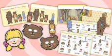 Goldilocks and the Three Bears Story Sack Resource Pack