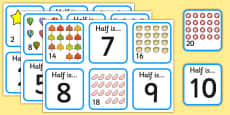 Halving Matching Cards