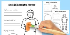 Australia - Design a Rugby Player Activity Sheet