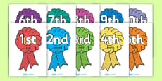 Ordinal Number Posters (Rosettes)