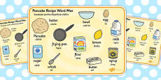 Pancake Recipe Word Mat EAL Romanian Translation