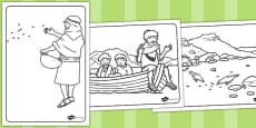 The Sower and the Seeds Colouring Sheets