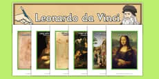 Leonardo da Vinci Artist Inspiration English/Romanian