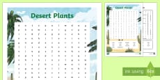 * NEW * Desert Plants Word Search