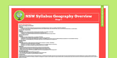 NSW Stage 3 Geography Syllabus Overview