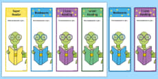 Editable Bookworm Bookmarks