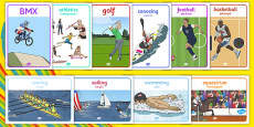 Rio Olympics Sports Posters 2016 Bilingual Resource