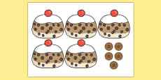 5 Currant Buns Cut Outs