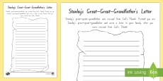 * NEW * Stanley's Great-Great-Grandfather's Letter Activity Sheet