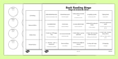 Book Reading Bingo Activity Sheets Spanish Translation