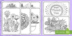 Mother's Day Mindfulness Colouring Pages English/Portuguese