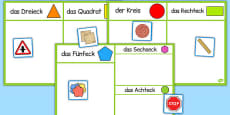 2D Shape Sorting Activity German