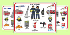 Fire Brigade Word Mat