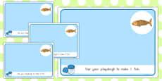 Basic Counting Fish Playdough Mats
