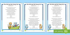 * NEW * KS1 The Owl and the Pussy-Cat Poem Differentiated Reading Comprehension Activity