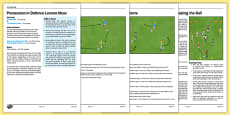 UKS2 Football Skills 4 Possession in Defence Lesson Pack