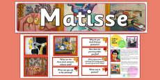 Henri Matisse Artist Inspiration