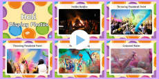 Holi Festival Display Photo PowerPoint
