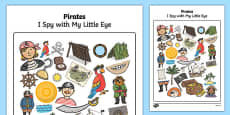 Pirate Themed I Spy With My Little Eye Activity