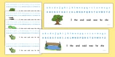 Alphabet Strips Nature Lifecycle