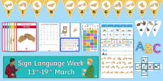 * NEW * British Sign Language Week Activity Pack