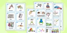 Visual Timetable Nursery FS1 Romanian