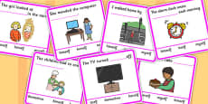Fill In The Sentence Reflexive Pronouns With Multiple Choice Answers Cards