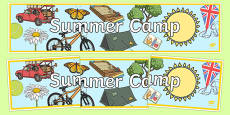 Summer Camp Themed Banner